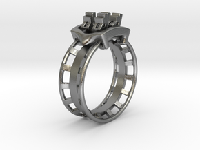 Rollercoaster Ring in Natural Silver