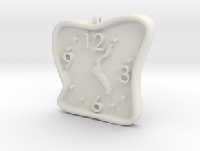 Clock Pendant in White Natural Versatile Plastic