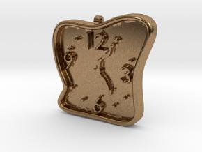Clock Pendant in Natural Brass