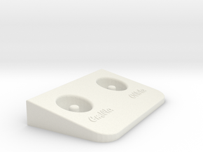 E-toothbrush Base in White Natural Versatile Plastic