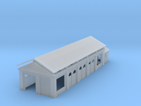 Goods Shed (T-Gauge) in Smooth Fine Detail Plastic