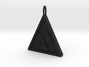 NuclearRadiation Pendant in Black Natural Versatile Plastic