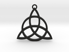 Triquetra in Black Natural Versatile Plastic