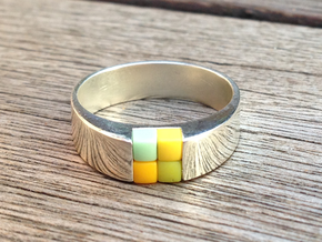 4-bit ring (US6/⌀16.5mm) in Polished Silver