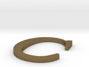 Letter-C in Raw Bronze