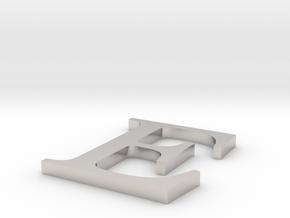 Letter-E in Platinum