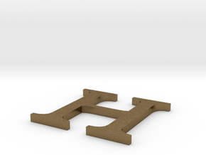 Letter-H in Natural Bronze