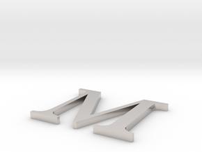 Letter-M in Platinum