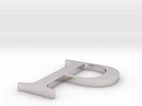 Letter-P in Platinum