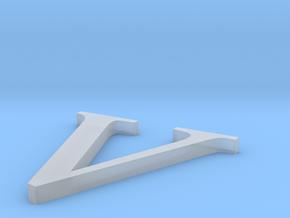 Letter-V in Smooth Fine Detail Plastic