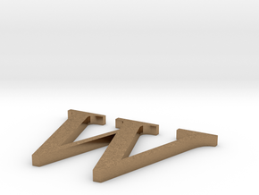 Letter-W in Natural Brass