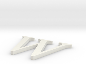 Letter-W in White Natural Versatile Plastic