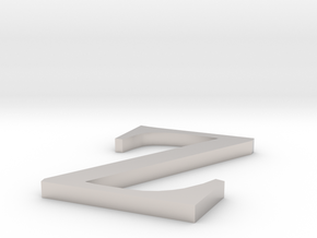 Letter-Z in Platinum