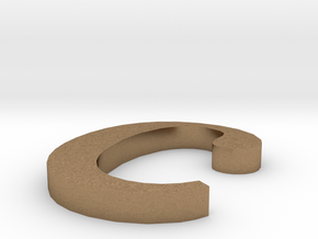 Letter- c in Natural Brass