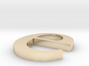 Letter- e in 14K Gold