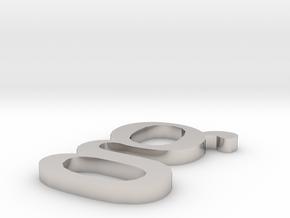 Letter- g in Platinum