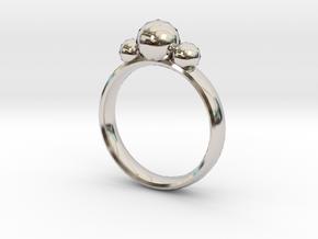 GeoJewel Ring US Size 6 UK Size M in Platinum