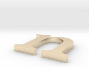 Letter- n in 14K Yellow Gold