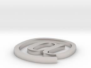 Symbol- @ in Platinum