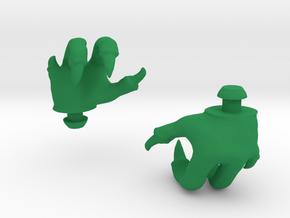 Reptile Hands in Green Processed Versatile Plastic