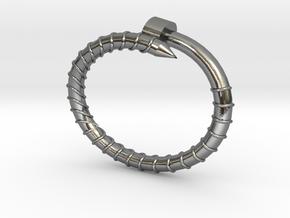 BIG Screw Bracelet - Small in Polished Silver