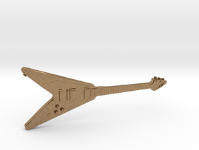 Gibson Flying V Guitar 1:18 in Natural Brass