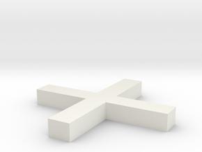 Plus sign - + in White Natural Versatile Plastic