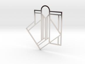 Art Deco Pendant - A Little Off Center in Platinum