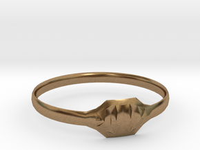 Triss Ring US Size 7 UK Size O in Natural Brass