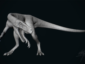 Herrerasaurus 1/12 in White Strong & Flexible