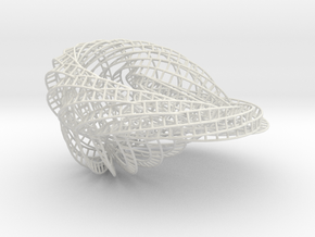 Mobius Mesh in White Natural Versatile Plastic