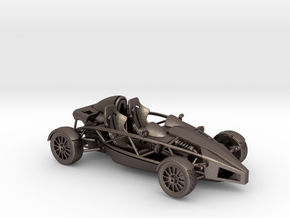 Ariel Atom 1/43 scale RHD no wings in Polished Bronzed Silver Steel