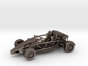 Ariel Atom 1/43 scale LHD no wings in Polished Bronzed Silver Steel