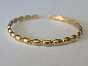 Bracelet - Beetles in Raw Brass