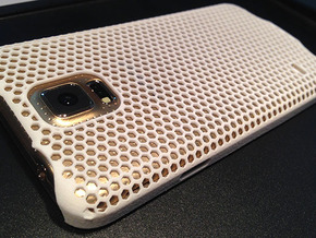 Galaxy S5 Honeycomb Patterned Case  in White Strong & Flexible Polished