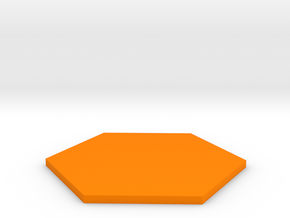 Hexagon  in Orange Processed Versatile Plastic
