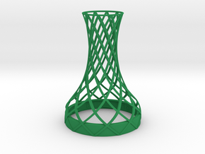Tower Vase for jar size:82 (6 leads) in Green Processed Versatile Plastic