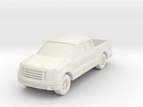 """Truck At 1""""=16' Scale in White Natural Versatile Plastic"""