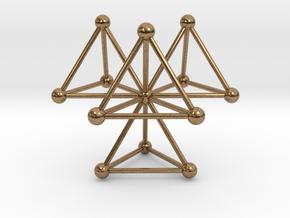 Tetrahedra in Natural Brass