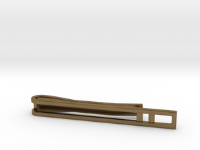 Minimalist Tie Bar - Double Bar in Natural Bronze