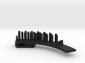 Guitar Pick Holder Curved Nubs in Black Natural Versatile Plastic