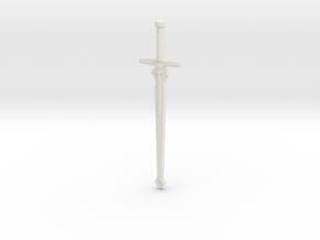 Kirito's Dark Repulser Sword in White Natural Versatile Plastic