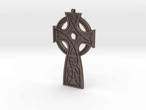 St. Leonard's Cross in Polished Bronzed Silver Steel
