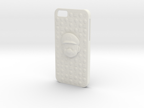 Mario iPhone 6 Case in White Natural Versatile Plastic