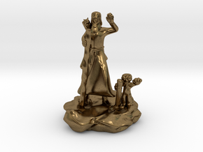 Foodle, the Rock Gnome Hermit Sorcerer Mini in Natural Bronze