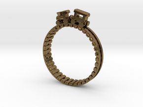 Train Nr2 Ring in Polished Bronze