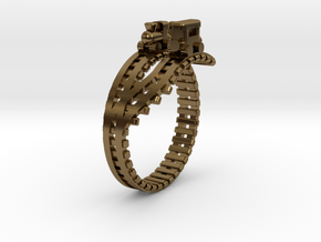 Train Nr4 Ring in Polished Bronze