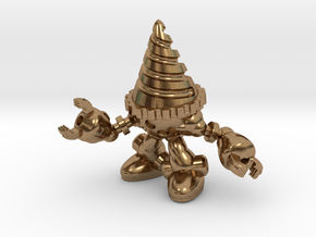 Drill-bot in Natural Brass