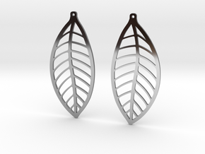 LEAF Earrings in Premium Silver