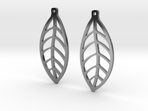 LEAF Earrings SMALL in Premium Silver